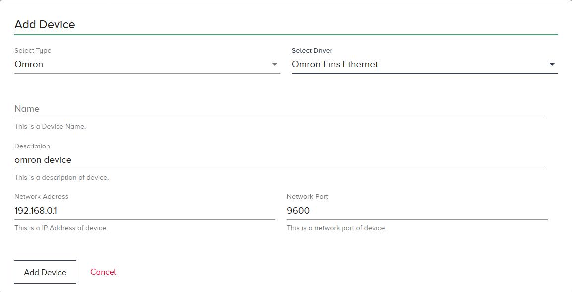 Omron Fins Ethernet | HPE Edgeline Docs