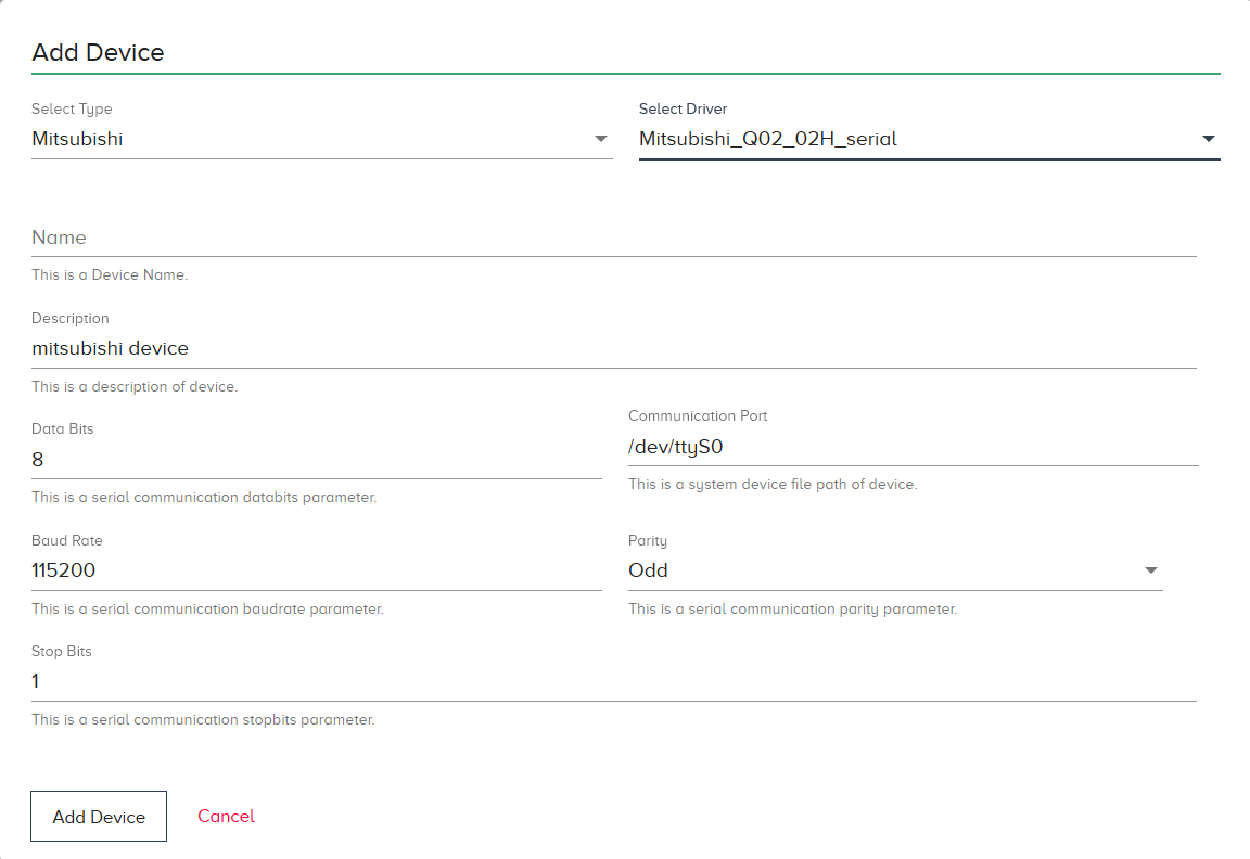Mitsubishi_Q02_02H_serial | HPE Edgeline Docs